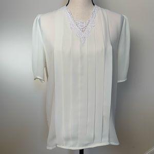 Vintage | Susan Hutton white Lace Blouse